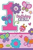 16-teiliges Einladungskarten-Set * BIRTHDAY GIRL * für den Kindergeburtstag und Motto-Party // mit 8 Einladungen und 8 Umschlägen // Set Invitations Geburtstag Kinder Motto Mädchen Rosa 1 erster Pink