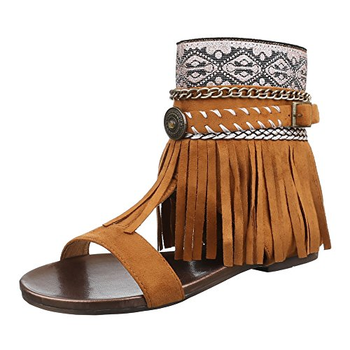 Ital-Design , Spartiates femme Camel