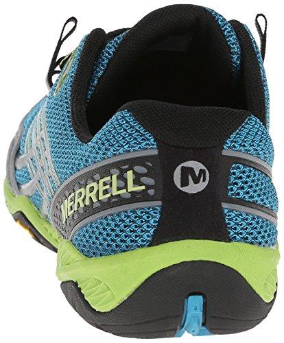 Merrell Trail Glove 3, Chaussures de trail homme Blau (Algiers Blue/Lime Green)