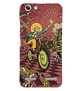 ifasho Designer Back Case Cover for Lenovo Vibe K5 Plus :: Lenovo Vibe K5 Plus A6020a46 :: Lenovo Vibe K5 Plus Lemon 3 (Cycle Rabir Butterfly Scientist Cartoon)