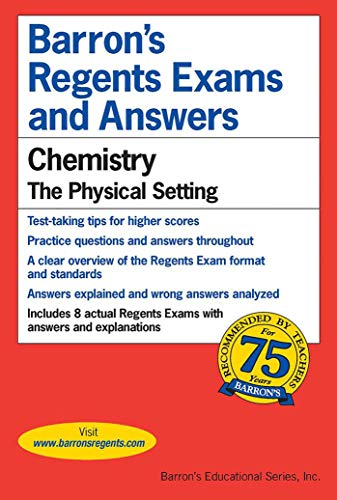 Regents Exams and Answers: Chemistry: Chemistry: Chemistry (Barron's Regents Exams and Answers)