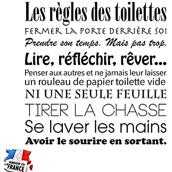 Sticker Citation Les Mains Qui Nettoient Les Toilettes 70 X