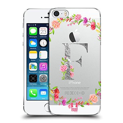 Head Case Designs Buchstabe F Dekorative Initialen Ruckseite Hülle für Apple iPhone 5 iPhone 5s iPhone SE