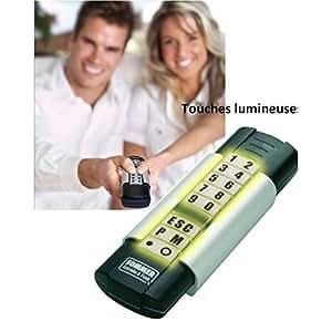 SOMMER - Digicodeur sans fil Télecody 10 canaux Touches grises porte garage SOMMER - 4070V000