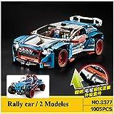 Decool 2 in 1 Rally car oder Buggy - 3377 - besteht aus 1005 Bausteine, für Kinder ab 6 Jahre.