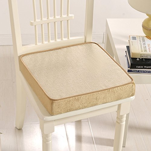 Yancyong Thick Cotton Cushion Removable Skid Office Chair Wood Sofa Cushion Car Cushion Pad,40X40Cm,Pure Edition Womens Sleeper