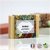 AMBRE - Savon Ambre et Argile Jaune -100g - Fabrication Française - sans colorant