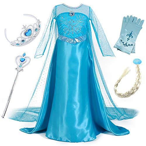 Preisvergleich Produktbild FStory&Winyee Mädchen Eiskönigin ELSA Anna Kostüm Cosplay Kinder Prinzessin Kostüm Kleid Karneval Party Verkleidung Halloween Fest Weihnachten Kleider