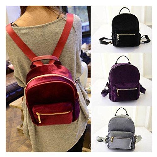 ECYC , Damen Rucksackhandtasche One Size A02:Black