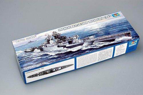 Faller trumpeter 05750 - modellino da costruire, nave da guerra battaglia richelieu 1943