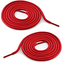 Cordón redondo para zapatillas, para zapatillas de deporte, botas de montaña, calzado de trabajo; en distintos colores; de la marca Ganzoo, rojo, 1 par