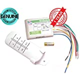 Sisah 4 Way ON/OFF Digital RF Remote Control Plastic Wireless Switch for Light Lamp (White)
