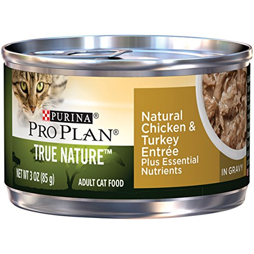 Purina Pro Plan Wet Cat Food, Tue Nature, Natural Turkey & Chicken Entrée, 3-Ounce Can by Purina Pro Plan