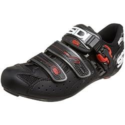 Sidi Genius 5 Pro Carbon - Zapatillas de ciclismo unisex, color negro, talla 45.5