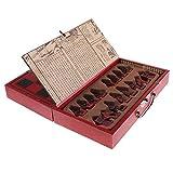 Homyl Holz Chinesisches Klappbares Schachspiel Set, als Geschenk oder Sammlung