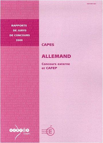 CAPES allemand : Concours externe et CAFEP