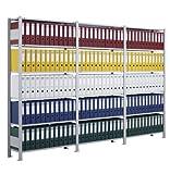 SCHULTE Archiv-Steckregal, RAL 7035 lichtgrau, ohne Anschlagleiste, 7 Fachböden, Grundregal, BxTxH 1000x300x2300 mm, Fachlast 70 kg