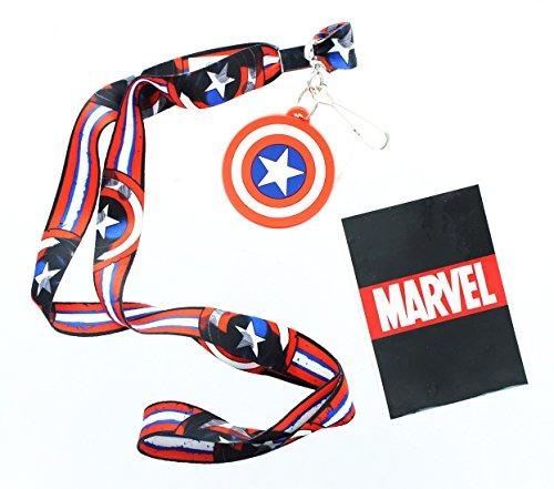 Preisvergleich Produktbild Marvel Captain America Logo Lanyard w/ Logo Charm