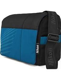 Nikon SLR Sacoche pour appareil photo reflex, Noir/Bleu