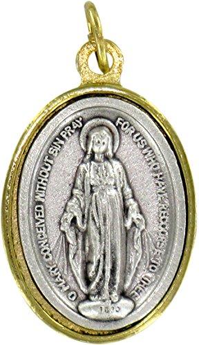 Ferrari & Arrighetti Medalla Milagrosa de Metal Bicolor - 2,5 cm (Paquete de 100 Piezas)