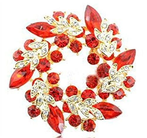 Tfxwerws Charming donne strass diamante corpetto cristallo Bauhinia fiori anello spilla