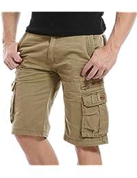 TAIPOVE Pantalones Cargo Corto Pantalón Casual Pantalón Laboral para Hombre con 6 Bosillos Negro Verde Amarillo Caqi Café