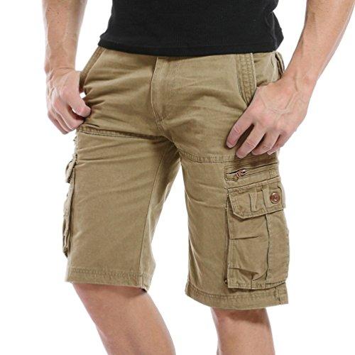 AYG Herren Cargo Shorts Bermudas Schwarz Shorts(khaki,32) - Tragen Sie Camo Shorts