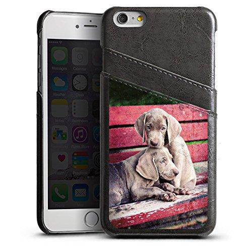 Apple iPhone SE Housse Outdoor Étui militaire Coque Chien Chiots Chiens Étui en cuir gris
