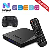 Kingbox- [2018 Dernière Version] K3 Android 7.1 TV Box avec 2GB RAM + 16GB ROM Smart TV Box avec Mini Clavier sans fil Supporte Dual-WiFi 2.4G + 5G / 1000M LAN / Bluetooth 4.0 / S912 / 64 Bit / Octa Core / H.265