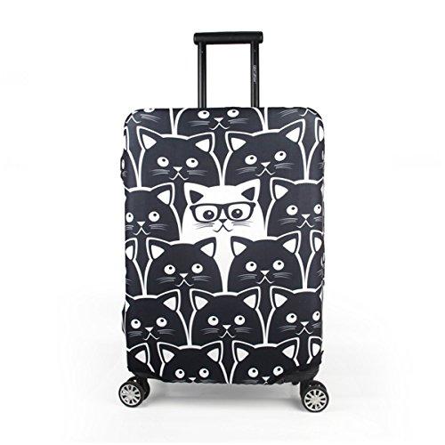 Maddy's Home Protector de maleta divertida de dibujos animados para equipaje de 23-32 pulgadas (M (Fit 23