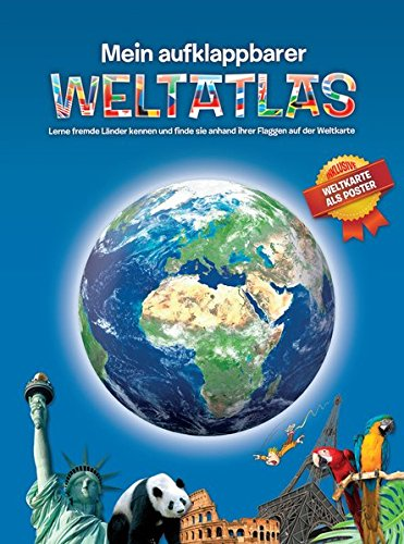 Mein aufklappbarer Weltatlas: Weltkarte als Poster