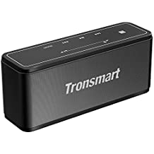 Tronsmart Mega Altavoz Bluetooth Estéreo Premium 40W Con Radiador Pasivo, Altavoz inalámbrico Portátil Subwoofer, 3D Sonido Digital con 15 Horas de Emisión Continua Manos Libres- Negro