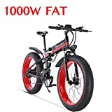 1000W Bicicleta eléctrica para Hombre Mountain Mountain Ebike 21 Velocidades 26 Pulgadas Fat...
