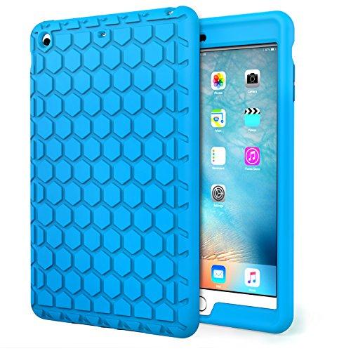 MoKo Hülle für iPad Mini 3/2 / 1 - [Honey Comb Series] Lightweight Silikon Case Stoßfest [Kids Kinderfreundlich] Schutzhülle für Apple iPad Mini 3/2/1, Blau (Nicht für Mini 4)