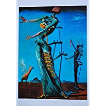 Black Creations La Jirafa ardiente Salvador Dali (The Burning Giraffe) Póster Lienzo Cuadro Impresión