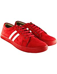 Blinder Beige Black Red Suede Lace-up Casual Sneakers Shoes For Men On Amazon.in
