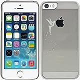 kwmobile Crystal Case Hülle für Apple iPhone SE / 5 / 5S mit Fee Design - transparente Schutzhülle Cover klar in Silber Transparent