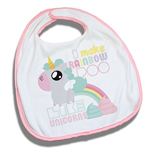 Bavoir-rose-Fluffy-chamalow-Licorne-Chibi-et-Kawaii-I-make-rainbow-poo-like-unicorn-Arc-en-ciel-et-caca-pastel-Chamalow-Shop