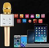KNONEW Portable Wireless Karaoke Microphone,Mini Handheld Cellphone Karaoke Player Built-in Bluetooth Speaker,Karaoke MIC Machine for Home KTV