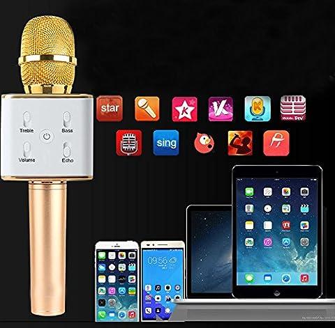 knonew portable sans fil karaoké microphone, mini Handheld Cellp Smartphone Karaoke Player Built-in Bluetooth Speaker, karaoké Mic Machine for Home Bal