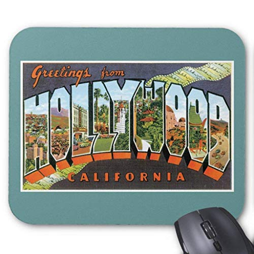 ASKSSD Greetings from Hollywood, California Mouse Pad 18 Times 22 cm