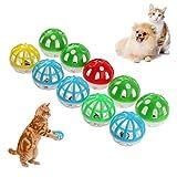 Demiawaking 10 stücke Kunststoff Aushöhlen Runde Haustier Katze Bunte Ball