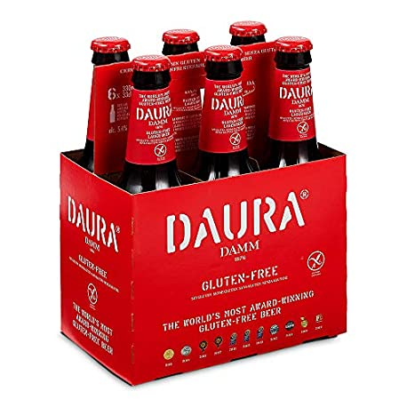 Daura Damm Cerveza Sin Gluten Pack de 6 Botellas x 330 ml Total 1 98 L