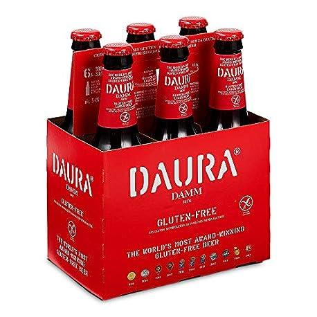 Daura Damm Cerveza Sin Gluten Pack de 6 Botellas x 330 ml Total 1 98 L