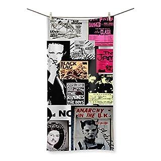 Handtuch Badetuch bedruckt–Punk Rock Heritage–3Größen–Limitierte Edition, weiß, 160x80cm