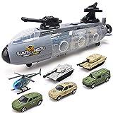 SLONG Kinderspielzeug-Sliding-Kriegsschiff U-Boot mit Alloy Car Military Vehicle Vehicle Tank Model Boy Geschenk,Armycar