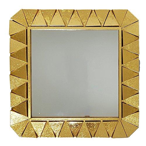 Slate & Rose Spiegel, Glas, Gold Frame 62.5cm x D 2cm Size of The Mirror: L x W 44CM
