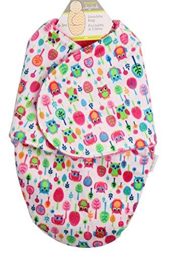 Happy Cherry - Coperta per bambino, doppio pile e cachemire stampato – Sacco nanna di fasciatura – nido d'angelo per passeggino, sacco a pelo per neonato 30 x 56 cm per 0–6 mesi, 8 colori