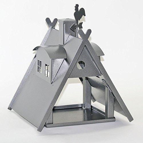 Vogelhaus XXL mit Ständer aus Metall (Farbe: silber-antik) - 9