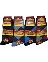 12 Pairs Mens Thermal Thick Winter Socks in Various Designs Size UK 6-11 EUR 39-45